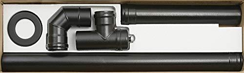 Aile Pellet Aeternum y40725150004Kit Installation poêles à pellets, Noir Mat, 1000x 280x 120mm