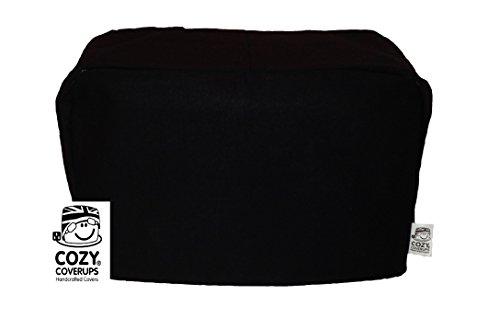 cozycoverup® Staub Cover für Toaster in Uni Schwarz Dualit New Gen Classic 4 Slice schwarz (4 Dualit Toaster Slice)