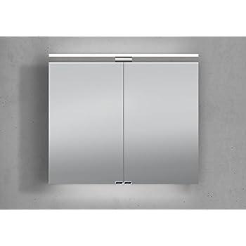 spiegelschrank 80 cm led beleuchtung doppelt verspiegelt k che haushalt. Black Bedroom Furniture Sets. Home Design Ideas