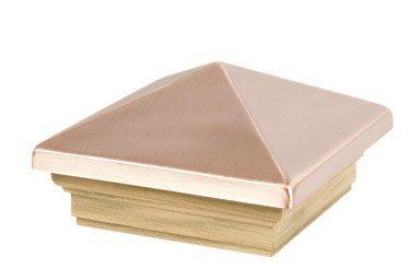 Waddell Verarbeitung 220Außen Post Top 10,2x 10,2cm behandelt Kiefer Kupfer Pyramide Top -