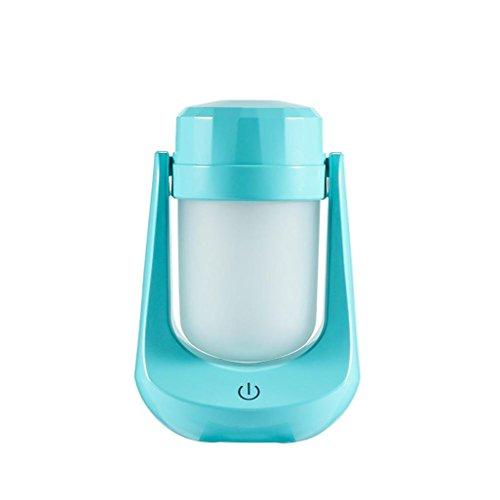 Neu Luftbefeuchter,Jaminy Lampe Luftbefeuchter Mini Nachtlicht Aroma Led Luftbefeuchter Diffusor Luftreiniger Zerstäuber Nacht-Beleuchtung Aroma Nebel Maker Home & Office Wesentlic (Blau) (Wohnungen Chanel)