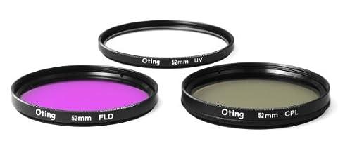 Set de 3 filtres 52mm Haute définition (filtre UV, filtre