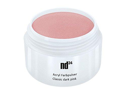 Acryl Farbpulver Classic dark pink ROSA - nd24 BESTSELLER - Feinstes FARB Acryl-Puder Acryl-Pulver...
