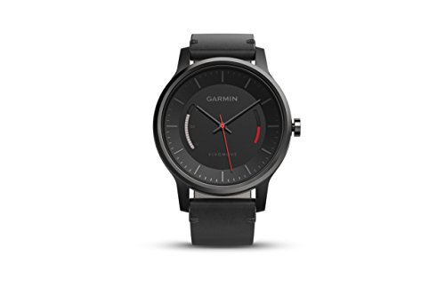 Garmin vivomove Classic Analog Watch with Leather Band (Black)