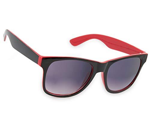 Damen Herren Lesebrille Sonnenbrille +Zip Case +1.5 +2.0 +3.0 +4.0 Slim Sun Readers Perfekt für den Urlaub Retro Vintage Brille MFAZ Morefaz Ltd (+1.5 Sun, Red Black)