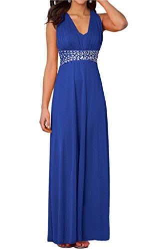 ivyd ressing Femme Elegant V pierres de la découpe rueckfrei Lave-vaisselle robe Prom robe robe du soir bleu roi