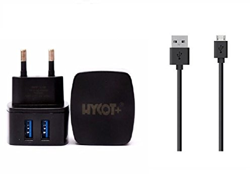 Lenovo A6000 Plus Compatible Fast Charger With USB Cable Assorted