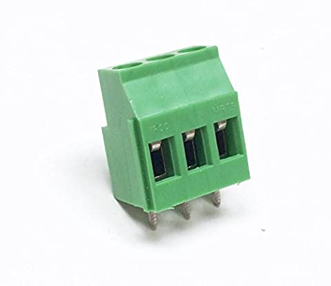 Borne à vis 3pôles 16A 250V étape 5–Modulaire affiancabile couleur: vert