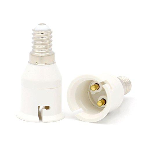 Luminosa – Lampenfassung E14auf B22, Adapter, Konverter (2Stück Adapter)/ES kleine Edison-Schraublampe für Bajonett-Sockel-Adapter/LED-Licht Adapter, Konverter/CE-zertifiziert (Bajonett-sockel)