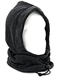 Adults Fleece Winter Snood Hood Neck Warmer - Black, Grey or Navy Blue