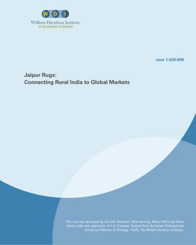 Jaipur Rugs: Connecting Rural India to Global Markets by C K Prahalad (2010-03-16) (Jaipur Rugs)