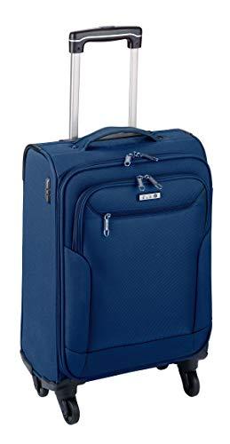 Koffer 3er Set Dunkel Blau Reise Trolley Rollen Erweiterbar Leicht 8,9Kg Bowatex