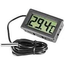 Omkuwl Termómetro de acuario LCD digital con termómetro de agua del refrigerador ...