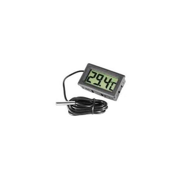 Omkuwl Term/ómetro de acuario LCD digital con term/ómetro de agua del refrigerador de sonda
