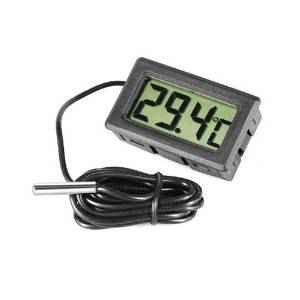 Omkuwl Termómetro de acuario LCD digital con termómetro de agua del refrigerador de sonda