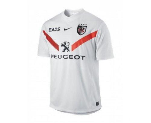 TOULOUSE Herren 2012/2013 kurzarm Replica Away Rugby-Jersey, Weiß/Schwarz/Rot, M