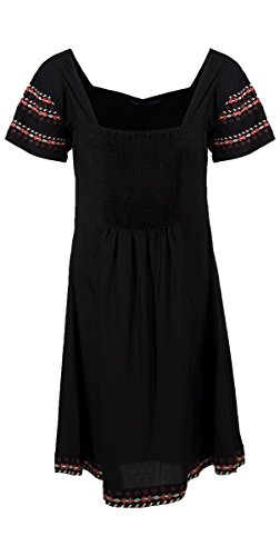 Coline - Robe courte manches courtes Noir