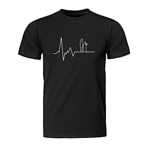 Herzschlag Rethorik - Rednerpult, Herren T-Shirt - Fairtrade -, Größe XL, schwarz -