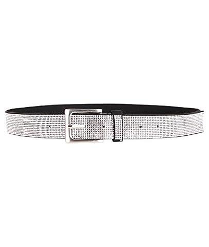 17135-BLK-S: 13 Row Diamante Buckle Belt