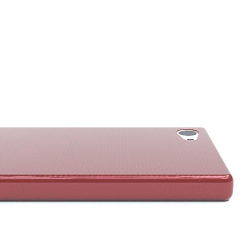 """Sony Xperia Z5 Compact Hülle - EAZY CASE Slimcover """"Clear"""" Handyhülle - Schutzhülle als Smartphone Case in Grün Brushed Rosa"""