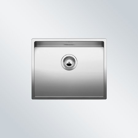 Preisvergleich Produktbild Blanco Claron 500-U Edelstahl-Spüle Seidenglanz