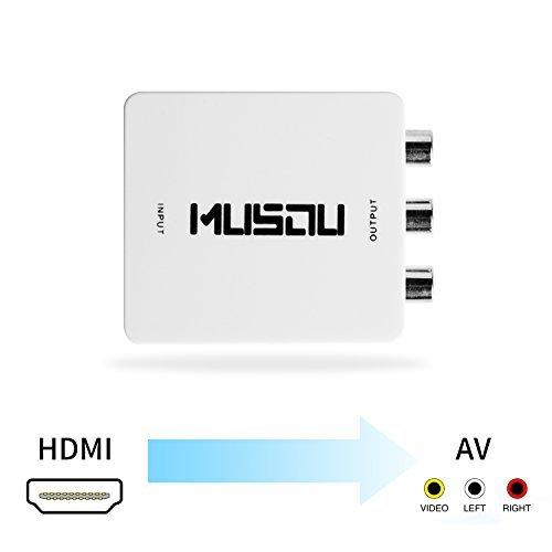 MUSOU HDMI zu RCA Konverter weiß