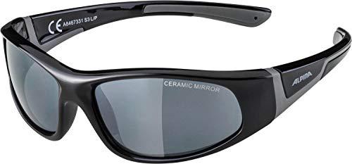 Alpina Kinder Sonnenbrille FLEXXY JUNIOR Sportbrille, black-grey, One Size