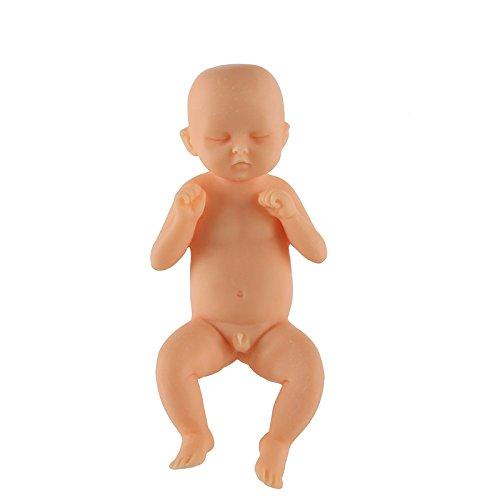 Geboren Baby Puppen Realistisch Mini Lebensecht Ganzkörper Neugeborenen Puppe - Gelb 4, 17-19ft