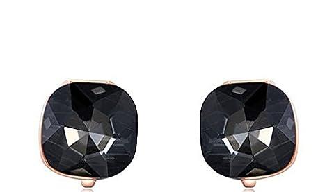 AMDXD Bijoux Plaqué Or Femme Boucles D'oreilles Or Rose Cubic
