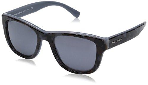 Dolce & Gabbana Herren 0Dg4284 3072Y6 54 Sonnenbrille, Grau (Camo On Grey Mirror Silver Matte)
