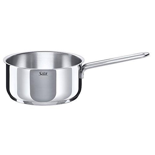Silit Style Stielkasserolle, ohne Deckel, Ø 16 cm, Edelstahl poliert, Schüttrand induktionsgeeignet, spülmaschinengeeignet, 1,5 l