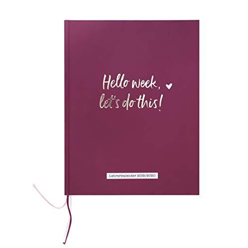 Odernichtoderdoch Lehrerkalender 2019/2020 | DIN A4+ - 23,4 x 30,5 cm - Wochenplaner, Jahreübersichten, Klassenübersichten - Geschenke Schreibtisch Lehrer