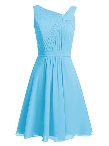 Dresstells, Robe courte de demoiselle d'honneur Robe de soirée de cocktail Robe de mère de mariée Bleu