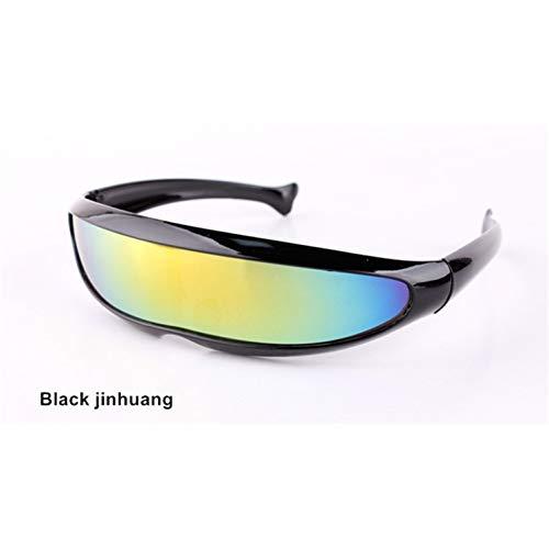 sijiaqi Lustige Alien Sonnenbrillen Männer X-Men Persönlichkeit Laser Brille Kühlen Siamesische Roboter Sonnenbrille Frauen Sonnenbrille Brille,Black jinhuang