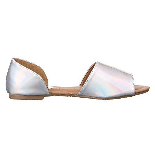 Ital - 50446, sandales Argent - Argent