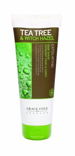 Tea Tree and Witch Hazel Body Scrub 238ml by Grace Cole Ltd (English Manual)