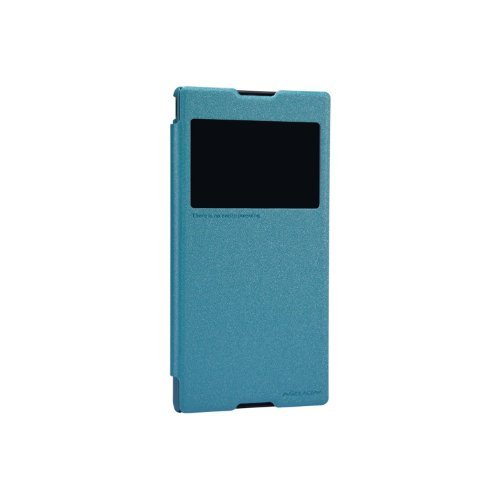 Nillkin Sparkle Leather Flip Stand Bumper Back Case Cover ForMotorola Moto E - Blue  available at amazon for Rs.349
