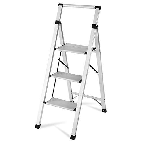 Arbeitsplattform rollgerüst baugerüst Bibliotheks-Leiter Mit Handschienen 4 Schritt-Aluminium, Faltbare Hochleistungsschritt-Leitern, Laden 150kg Haushaltsleiter