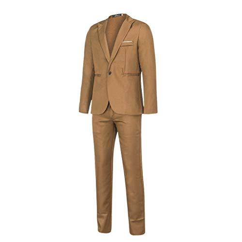 Herren Anzug,Schmale Blazer Business Hochzeit Party Smoking Sakko Jacke + Hose Männer Klassisch Charmant Set Modern Cool Mantel 2pcs -