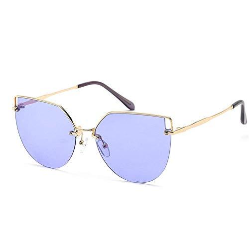 XHCP Frauen polarisierte Klassische Flieger-Sonnenbrille, Frauen-im Freiensport-Gläser-Metallkatzenauge-Sonnenbrille UV400 Mann-Ferien-Spielraum-polarisierte Sonnenbrille (Farbe: C3, Größe: frei)