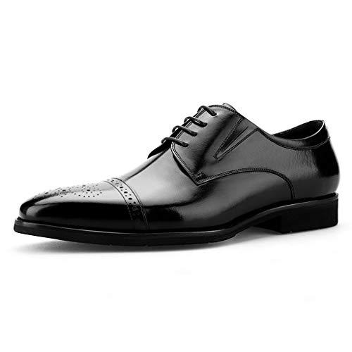 SHOESDQ Frühlingsmänner Lederschuhe Männlichen Britischen Stil Komfortable Atmungsaktive Formale Schuhe Business Formelle Kleidung Lederschuhe (Farbe : Schwarz, größe : EU43) - Männliche Formel