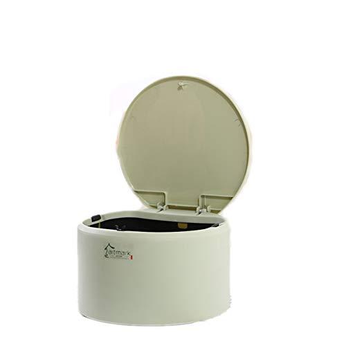 OPIB Runder Papierkorb für Büro/Küche/Schreibtisch/Mini/Mülleimer aus Kunststoff grün (Küche Schritt Papierkorb Kann 13 Gallone)