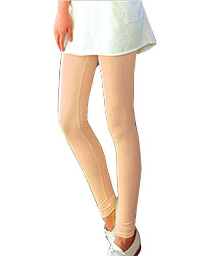 Leggings Da Donna Stretch Elasticizzati Tinta Unita Pantaloni Sportivi Chic Elasticizzati Pantaloni Fitness Leggings Da Yoga Pantaloni Pantaloni Casual Ragazza ( Color : Nude , Size : One Size )