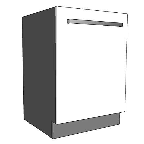 Geschirrspülersockel (Sockelleiste) 19mm Materialstärke (Anthrazit, 444x95mm)