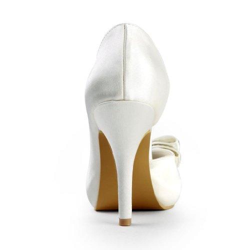 Jia Jia Wedding 3704L chaussures de mariée mariage Escarpins pour femme Beige
