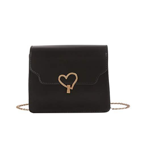 Herz Tote Handtasche (Dhyuen Damenmode Herz Metall Schulter Tote Handtasche Rucksack Umhängetaschen)