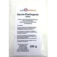 Sauna Frote sal Extra en el 200 g Bolsa - 100% natural puro de la Mar Muerto