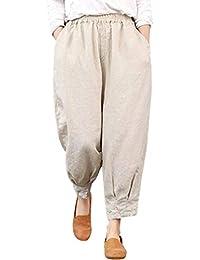 Damen Haremhose Strandhose Pluderhose Sommerhose Hippie Hose One Size XS-L 397