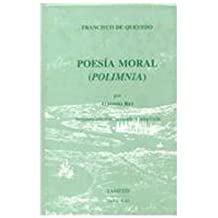Poesia moral (Polimnia) (43) (Coleccion Tamesis: Serie B, Textos)