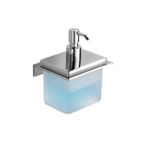 BZEI-DISPENSERS Badezimmerzubehör Seifenspender Manuelle Chrom Kupfer Punch Wand montiert Liquid Seife und Lotion Spender Pump Wash Hands Flasche für Händedesinfektionsmittel Shampoo Lotion -